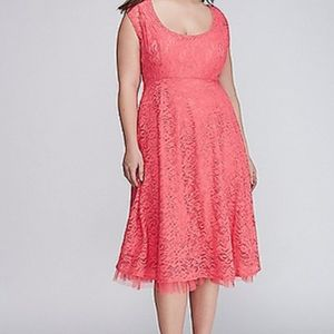 Lane Bryant fit and flare lace dress with tulle